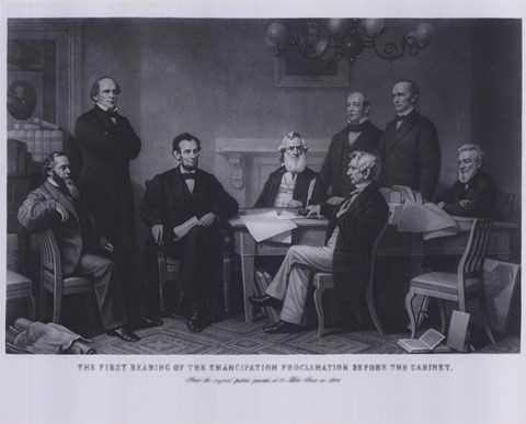 Framed President Lincoln First Reading of the Emancipation Proclamation (#4) Print
