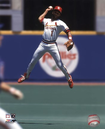 Ozzie Smith 1993 Fielding Action Fine Art Print By