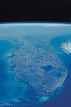 View Of Florida Peninsula From Space Fine Art Print By