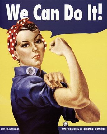 Framed We Can Do It - Rosie The Riveter Print
