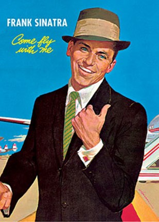 Framed Frank Sinatra - Come Fly with Me Print