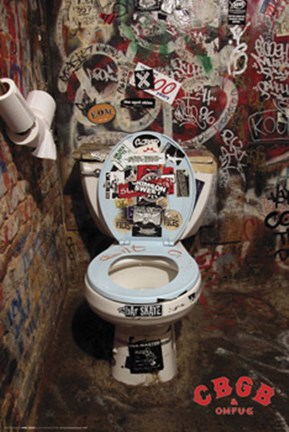 Cbgb Bathroom Wall Poster By Unknown At Fulcrumgallery Com