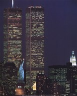 Wtc With Statue Of Liberty Art