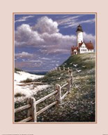 Lighthouse With Fence  Fine Art Print