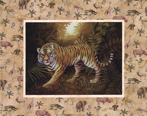Framed Safari - Tiger Print