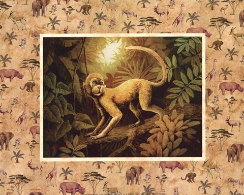 Framed Safari - Monkey Print