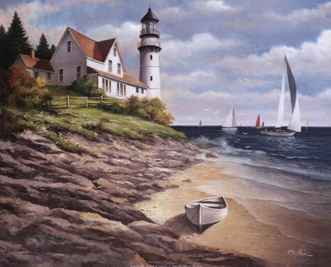 Lighthouse I Fine Art Print By T C Chiu At Fulcrumgallery Com