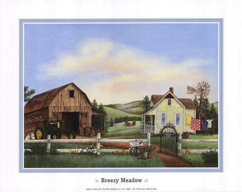 Framed Breezy Meadows Print
