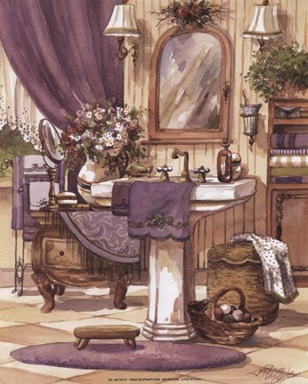 Victorian Bathroom Ii Fine Art Print By Jerianne Van Dijk