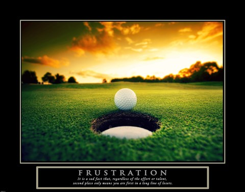 Framed Frustration - Golf Ball Print