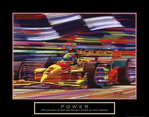 Framed Power-Formula 1 Print