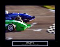 Drive-Race Car  Fine Art Print