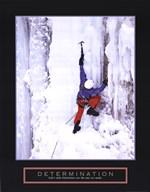 Determination - Ice Climber  Fine Art Print