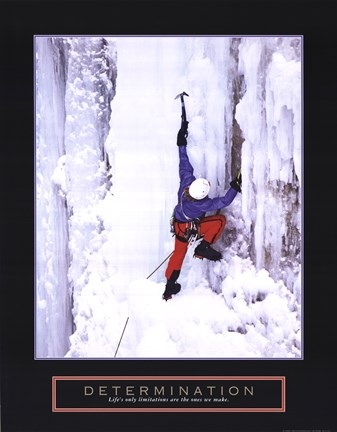 Framed Determination - Ice Climber Print