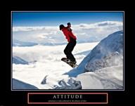 Attitude - Snow Boarder  Fine Art Print