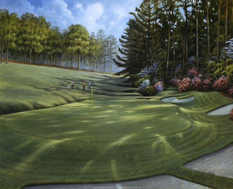 Framed Azalea Hole Golf Course Print