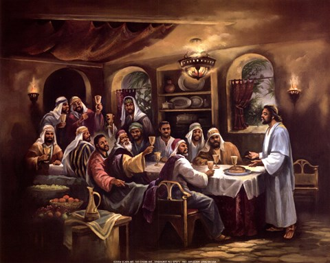 Black Last Supper Fine Art Print By Beverly Lopez At