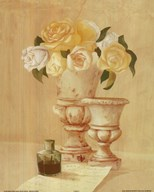 White Flowers In Vase Art