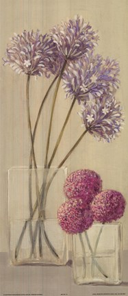 Framed Purple Pink Flowers In Vase Print