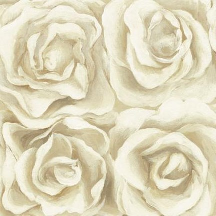 Framed Four White Roses Print