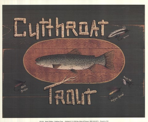 Framed Cutthroat Trout Print