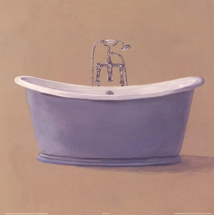 Framed Blue Bathtub Print