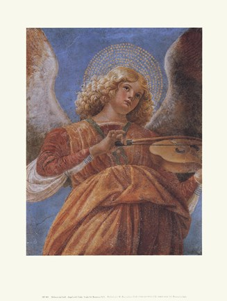 Framed Angel With Viola Print