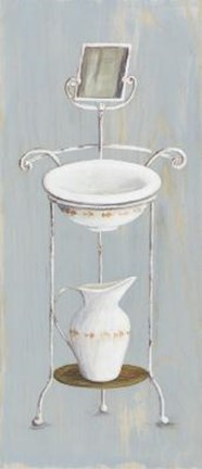 Framed Wash Stand With Basin, Pitcher Mirror Print