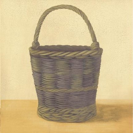 Framed Blue Basket Print