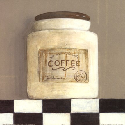 Framed Coffee Jar Print