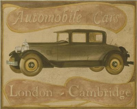 Framed London - Cambridge Car Print