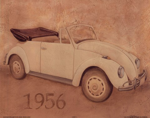 Framed 1956 Volkswagon Bug Print