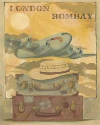 Framed Airplane - London Bombay Print