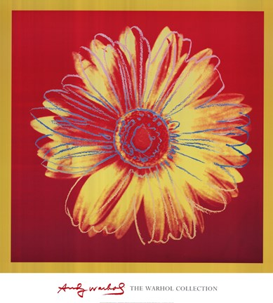 Framed Daisy, c. 1982 (fuchsia and yellow) Print