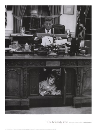 Framed Jfk And John Jr, 1963 Print