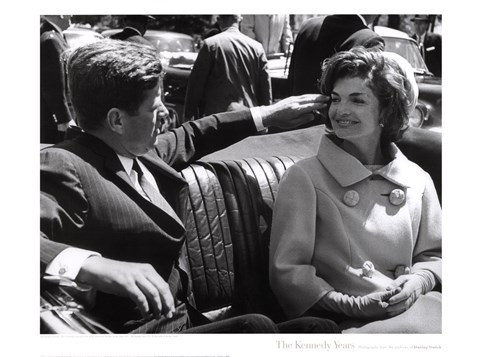 Framed Jfk And Jacqueline, 1961 Print