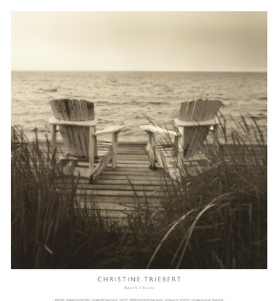 Framed Beach Chairs Print