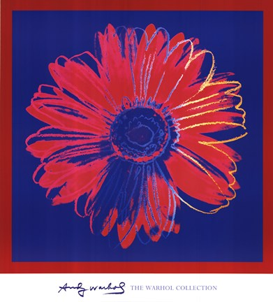 Framed Daisy, c. 1982 (blue and red) Print