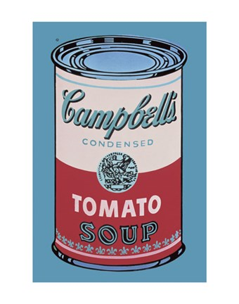 Framed Campbell's Soup Can, 1965 (pink & red) Print