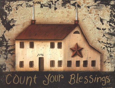 Framed Count Your Saltbox Blessings Print