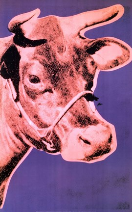 Framed Cow, 1976 Print