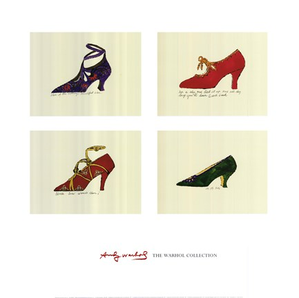 Framed Shoes, Shoes, Shoes, 1955 Print