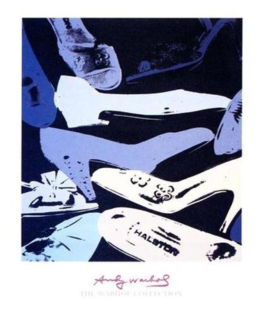 Diamond Dust Shoes, 1980-1 (blue-grey) by Andy Warhol art print