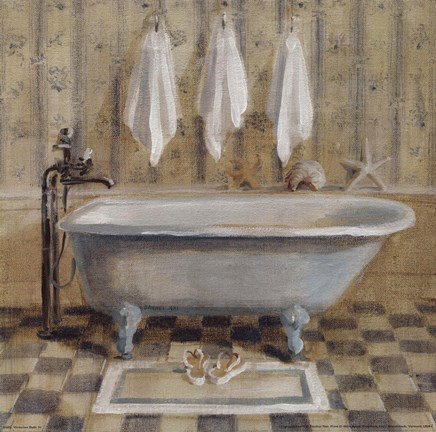 Victorian bath iv fine art print by danhui nai at - Salle de bain art deco ...