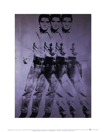 Framed Elvis, 1963 (triple Elvis) Print