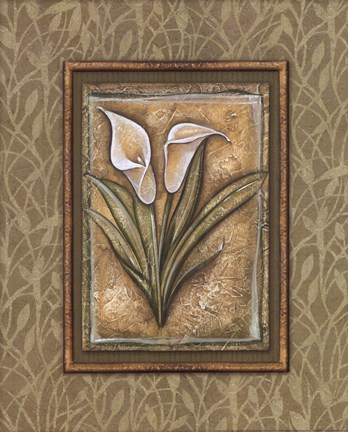 Framed Peaceful Flowers IV Print