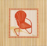 Retro Patio Chair I  Fine Art Print