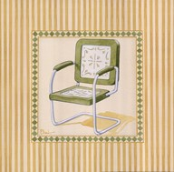 Retro Patio Chair II  Fine Art Print