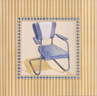 Retro Patio Chair III  Fine Art Print
