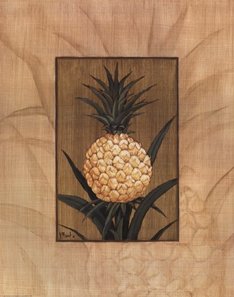 Framed Sugar Loaf Pineapple Print